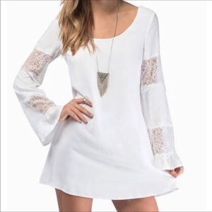 Tobi Lace inlet Bell Sleeves Dress NWT